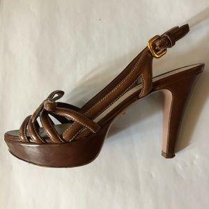Prada brown platform sandals. Size 38